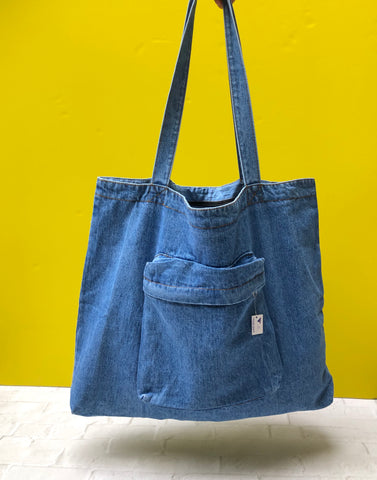 Change is Good Denim Tote