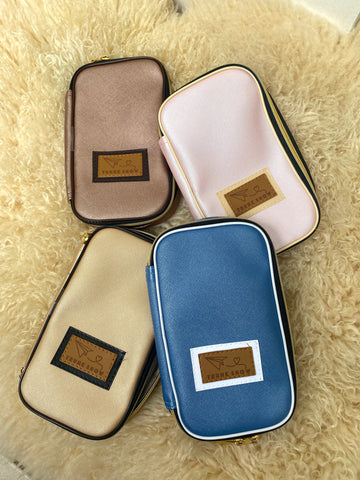 Metallic Leather Compact Case