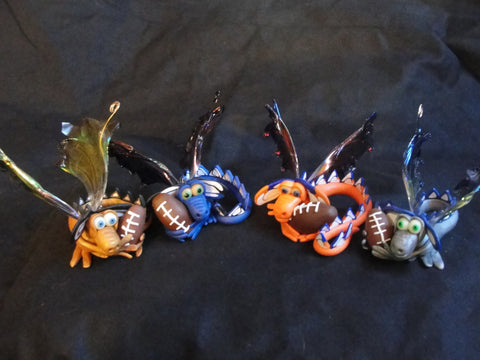 Football Lover Dragon - OOAK ELEMENTAL DRAGONS