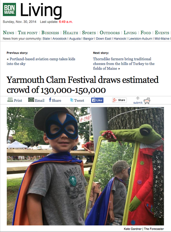 Yarmouth Clam Festival News Clipping