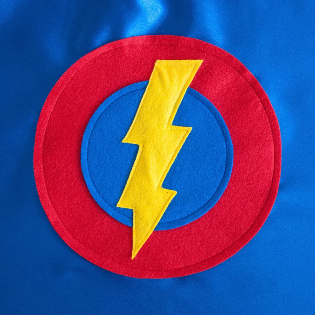 Kid's Lightning Bolt Cape - Blue - Creative Capes