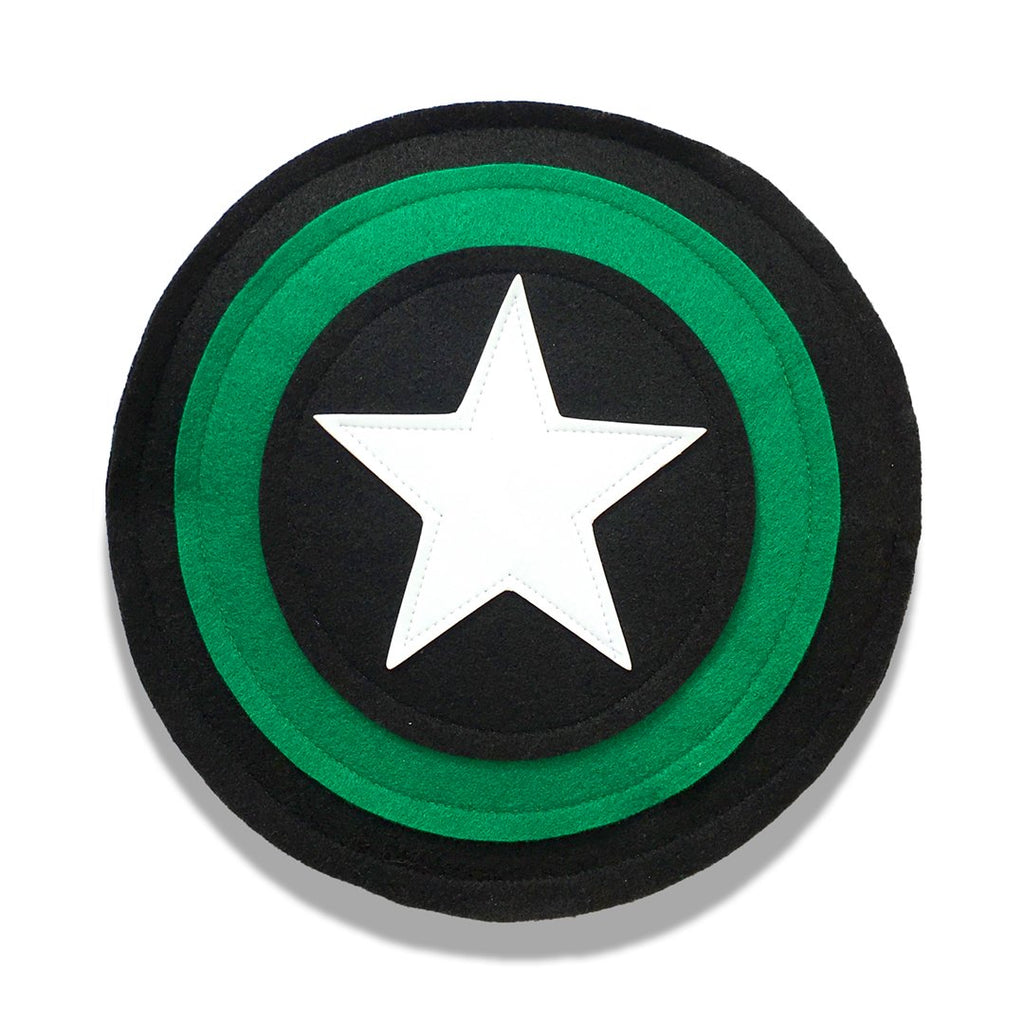 Kids Superhero Shield - Black/Green/Black - Creative Capes