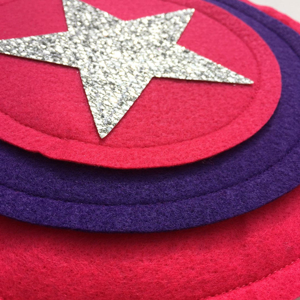 Kids Superhero Shield - Pink/Purple/Pink - Creative Capes