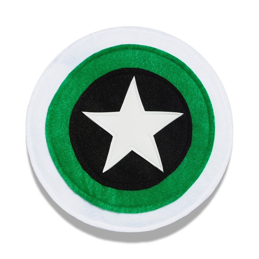 Kids Superhero Shield - Black/Green/White - Creative Capes