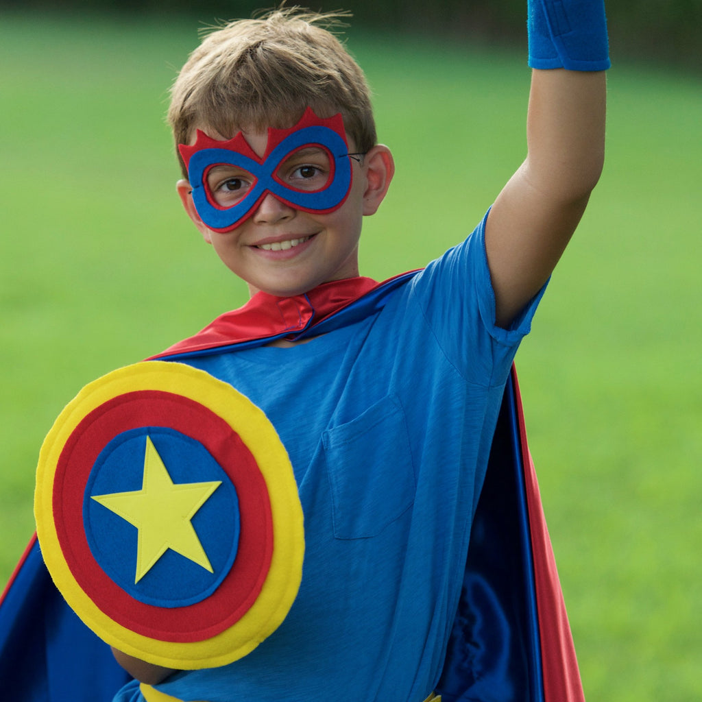 Kids Superhero Shield - Blue/Red/Yellow - Creative Capes