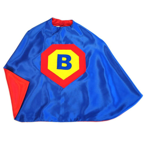 Kid's Initial Cape - Blue - Creative Capes