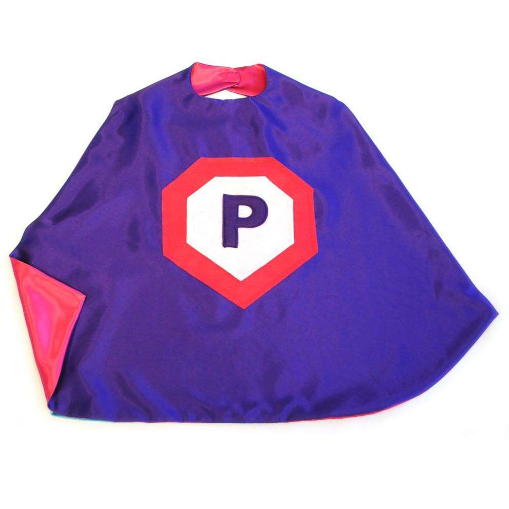 Kid's Initial Cape - Purple - Creative Capes