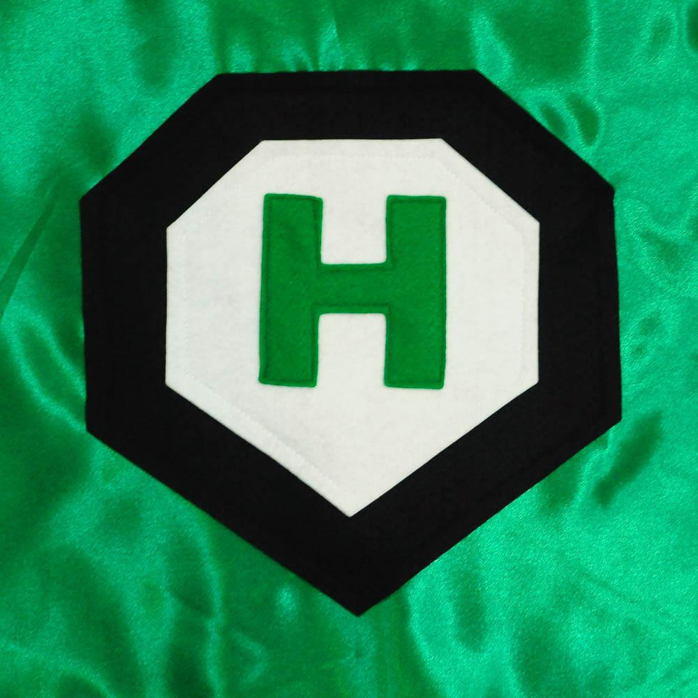 Kid's Initial Cape - Green - Creative Capes