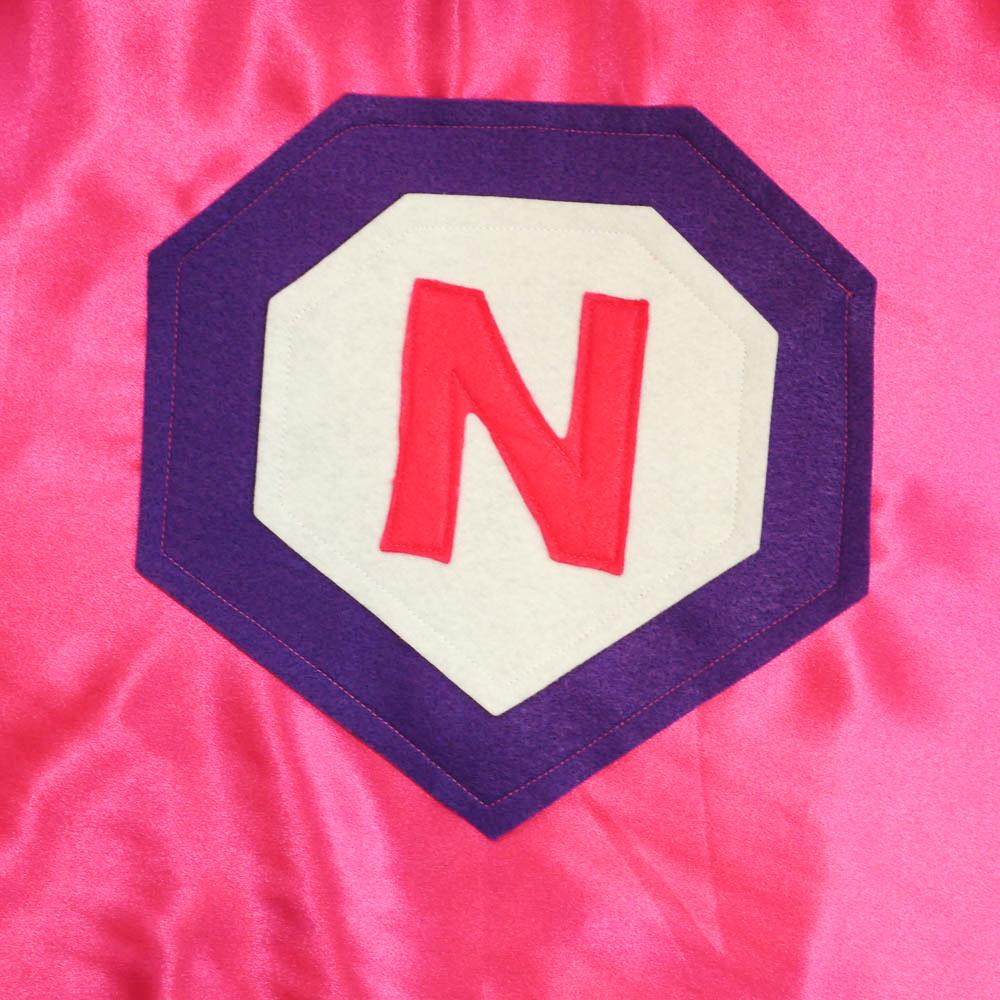 Kid's initial Cape - Pink - Creative Capes