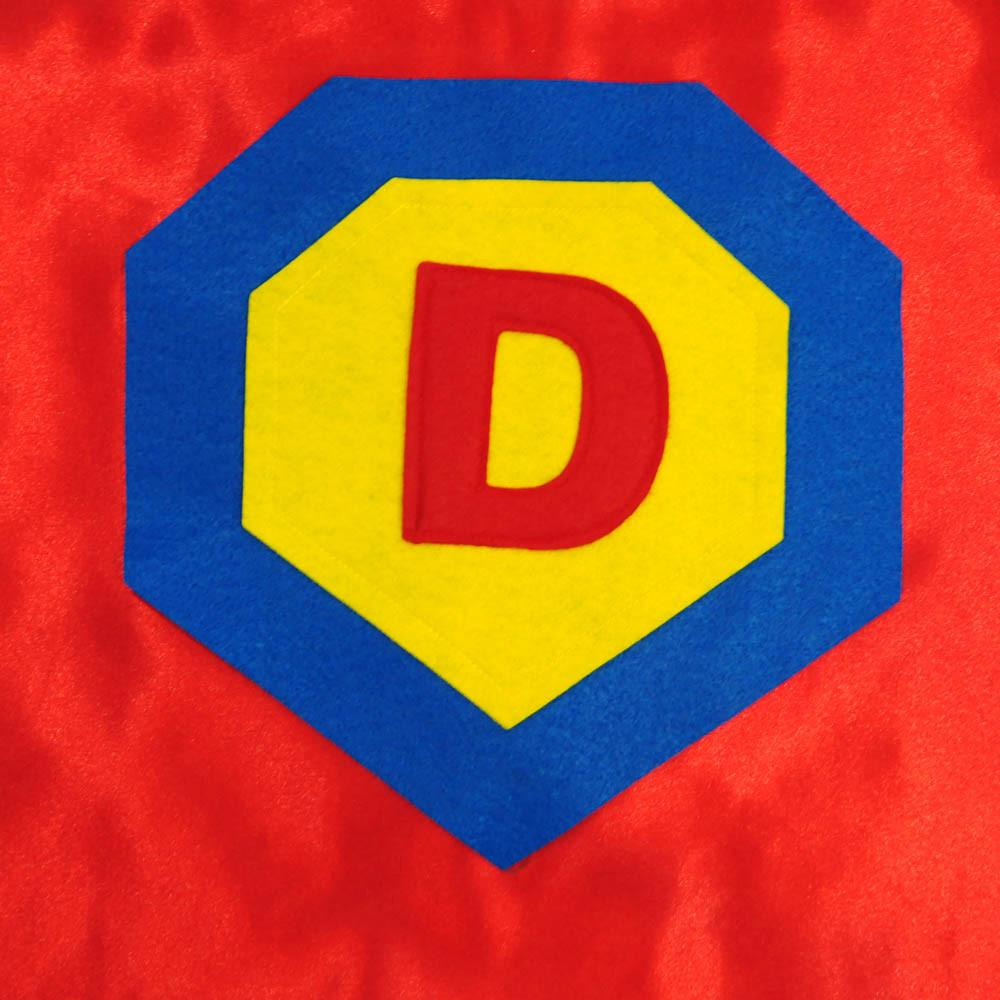 Kid's Initial Cape - Red - Creative Capes