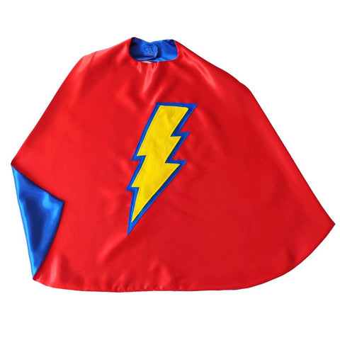 Kid's Lightning Bolt Cape - Red - Creative Capes
