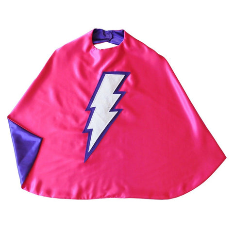 Kid's Lightning Bolt Cape - Pink - Creative Capes