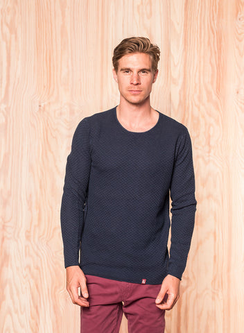 Basic Pullover Structure navy - Colours & Sons