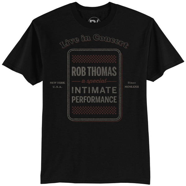 Black Checkered Tour T-shirt - Men's - Rob Thomas Official Store - 1