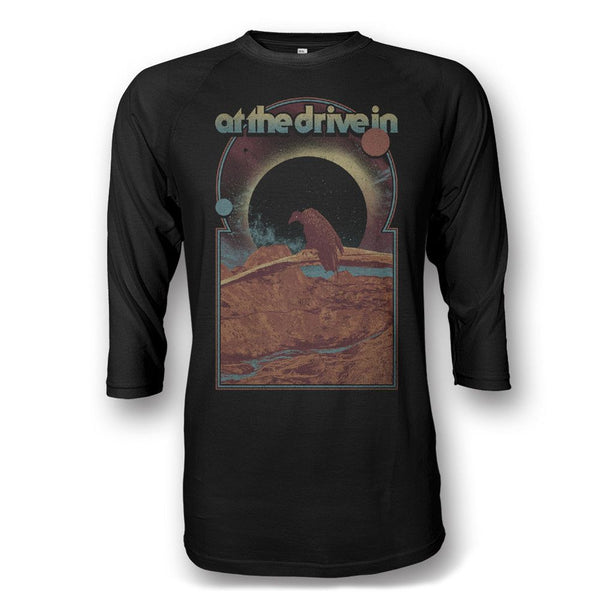 Vulture Raglan - All Black - At The Drive In Official Store
