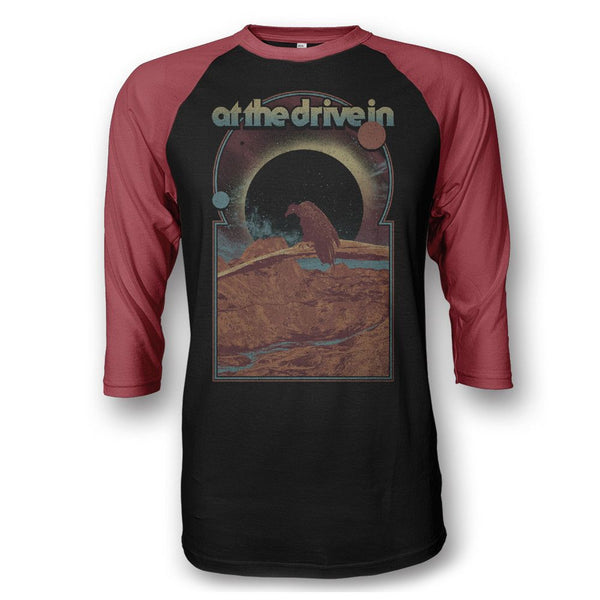 Vulture Raglan - Black/Red - At The Drive In Official Store