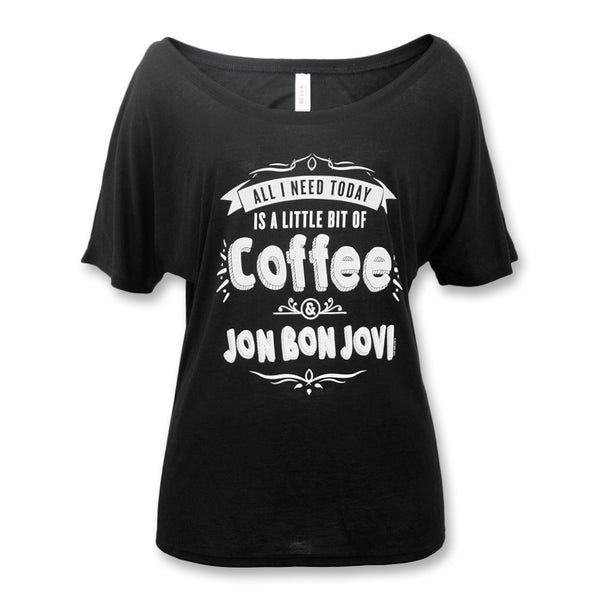 Official Bon Jovi Coffee Slouchy T-shirt