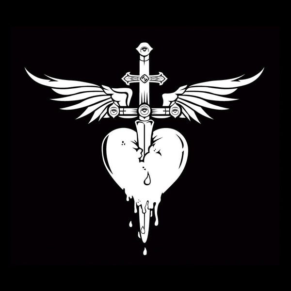 Official Bon Jovi Heart N Dagger Decal Sticker