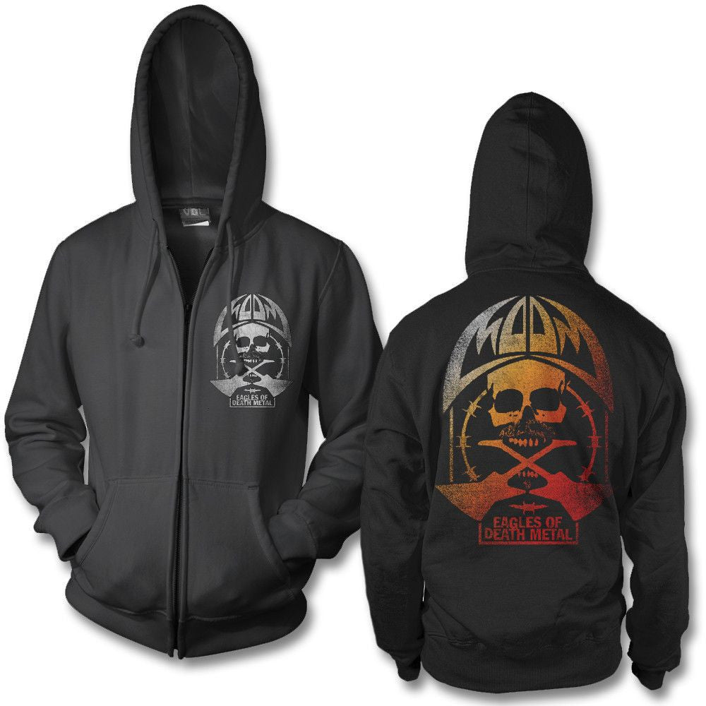 52129ee96 This is an Officially Licensed Eagles Of Death Metal Hoodie. This Mouthful  design is printed on a standard fitting men's hoodie.