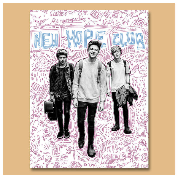 Official New Hope Club Doodle Dudes Poster