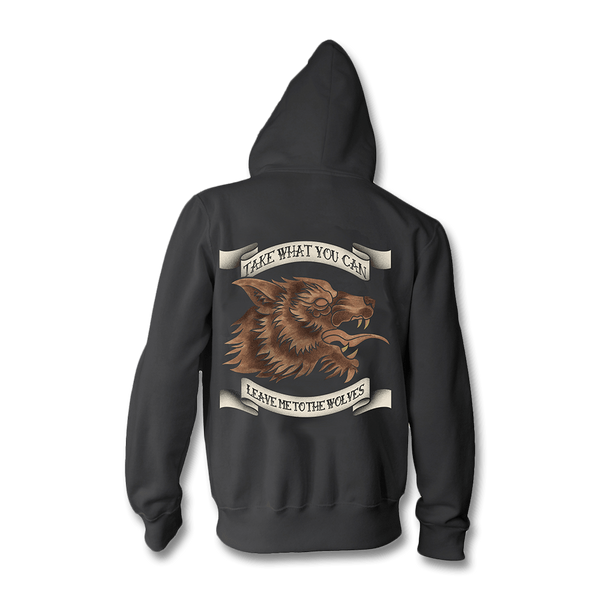 Leave Me To The Wolves Zip Up Hoodie - Seether Official Store