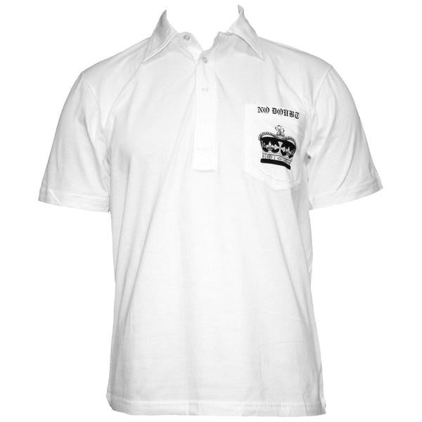 Crown White Collared Shirt