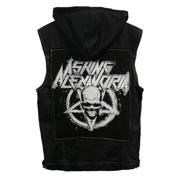 Death Metal Hooded Denim Vest - Asking Alexandria Official Store - 1