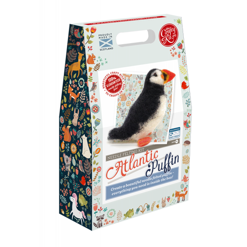 Puffin Needle Felting Kit - Peach Perfect