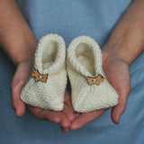 Baby bootees knitting kit
