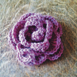 Rose corsage crochet kit