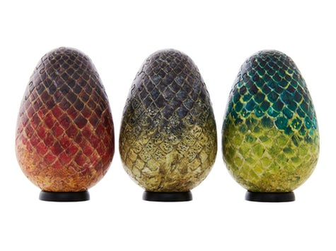 Three multicoloured Game of Thrones Dragon Eggs 3D jigsaw puzzles