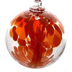 Red patterned glass spirit ball