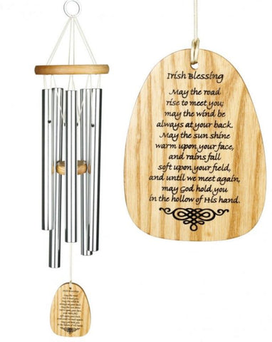 Woodstock Irish Blessing Wind Chime - Peach Perfect