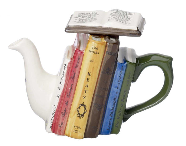 Poetry books one cup teapot by Carter's of Suffolk - Peach Perfect