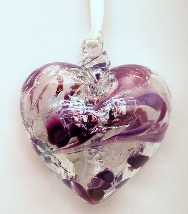 February/Amethyst friendship heart - Peach Perfect