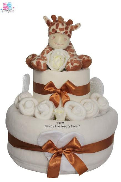 Giraffe nappy cake - Peach Perfect