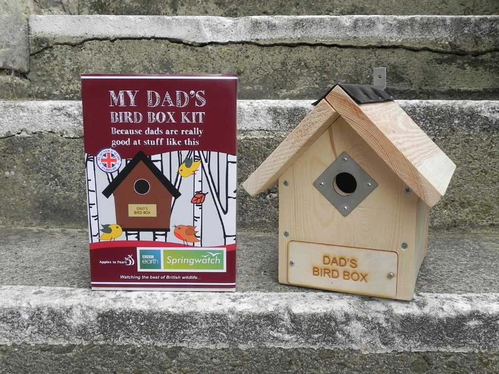 Dad's Springwatch Bird Box kit - Peach Perfect