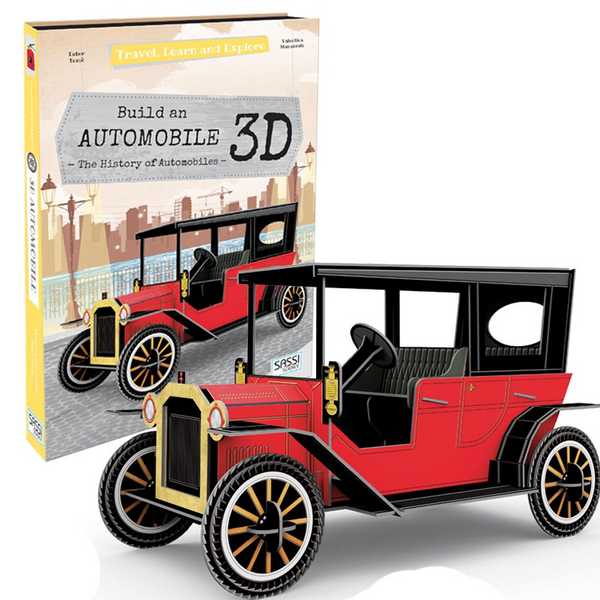 3d automobile model and book - Peach Perfect