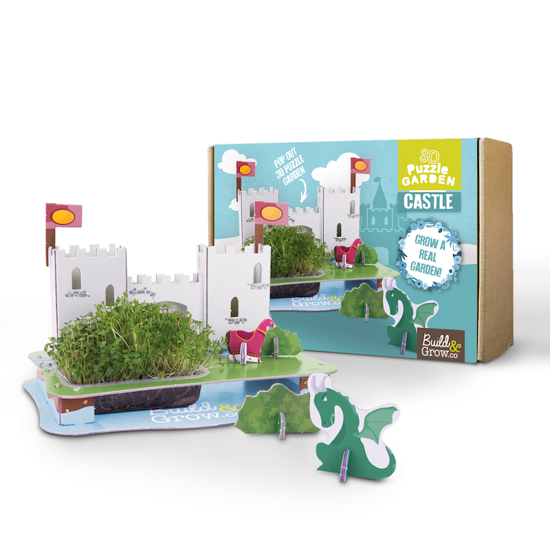 3D puzzle castle garden - Peach Perfect
