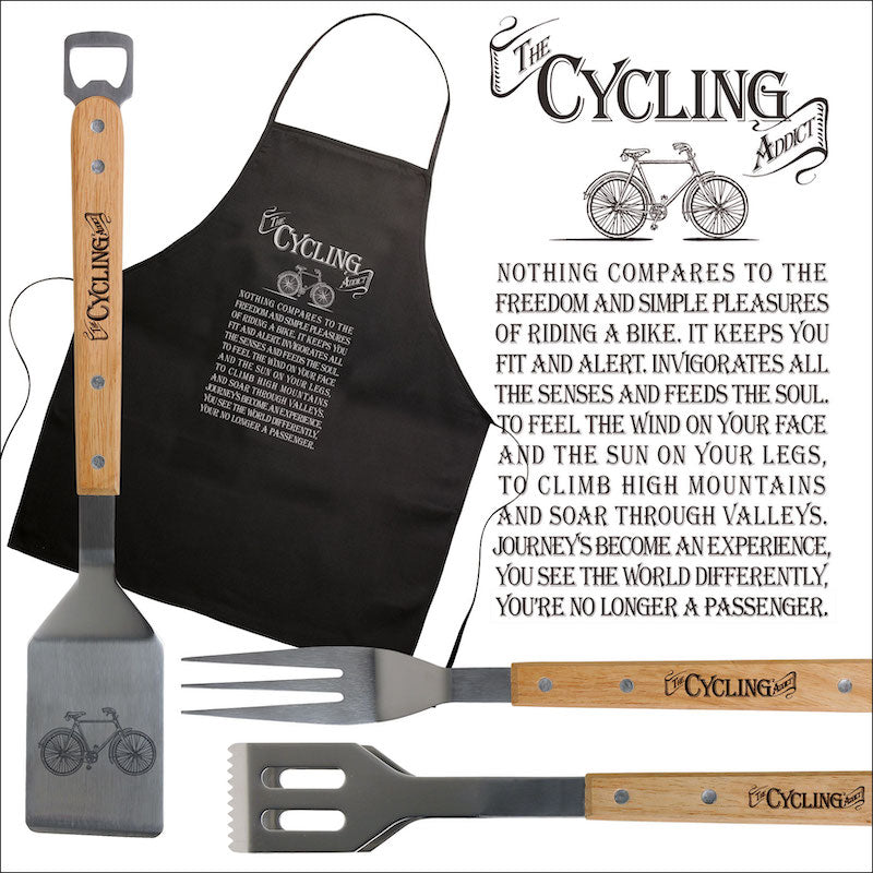 Cycling Addict Apron & BBQ set - Peach Perfect
