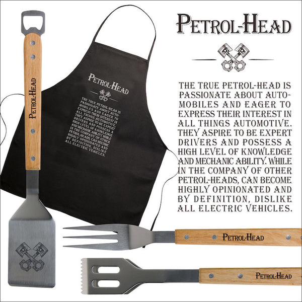 Petrol Head Apron & BBQ Set - Peach Perfect