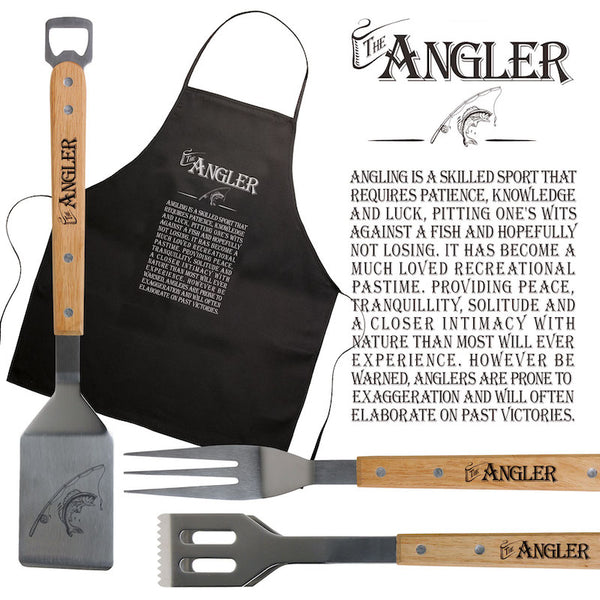 The Angler Apron & BBQ set - Peach Perfect