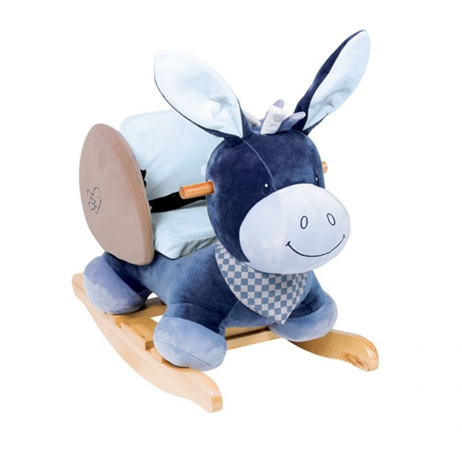 Alex the Donkey toddler rocker by Nattou - Peach Perfect