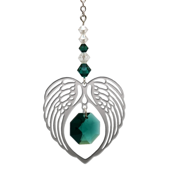 Angel Wing Emerald - Peach Perfect