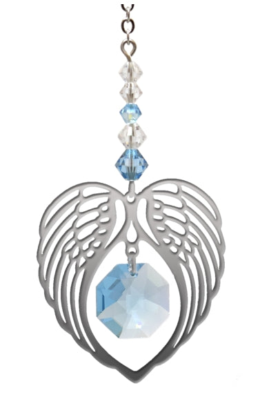 Angel Wing Aquamarine - Peach Perfect