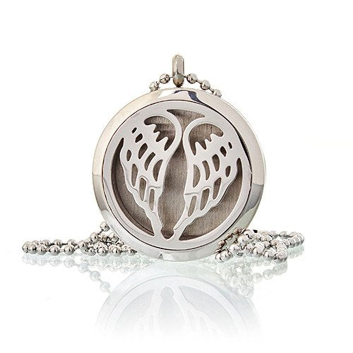 Angel Wings diffuser necklace without no pad - Peach Perfect