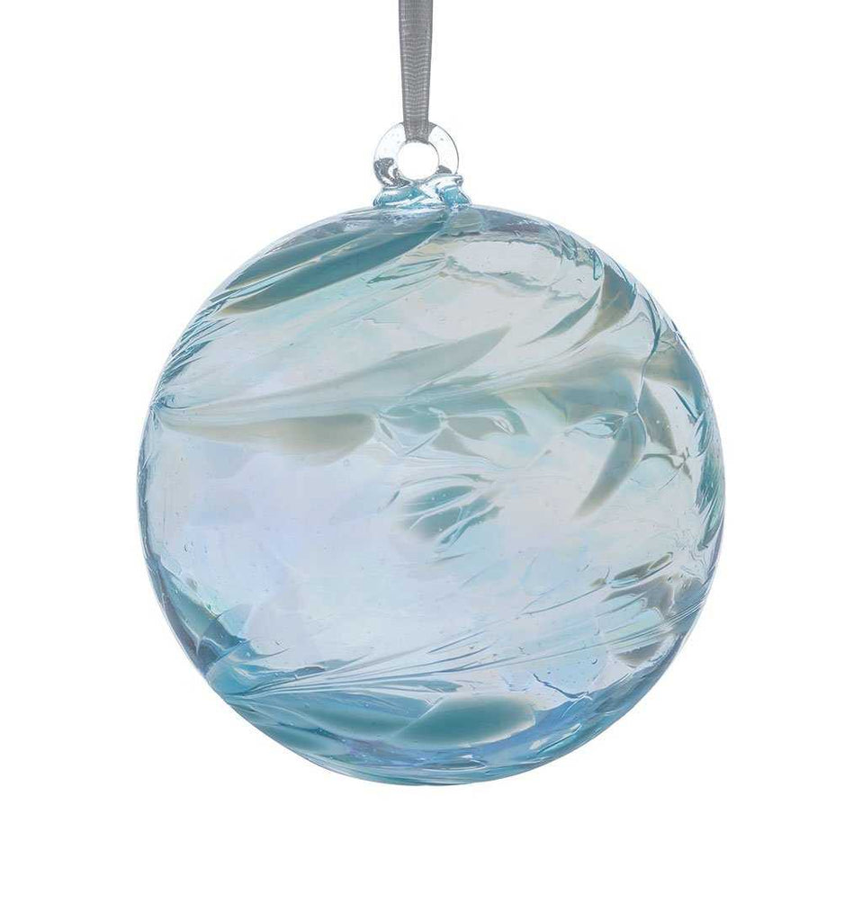 Birthstone ball by Sienna Glass - March/Aquamarine
