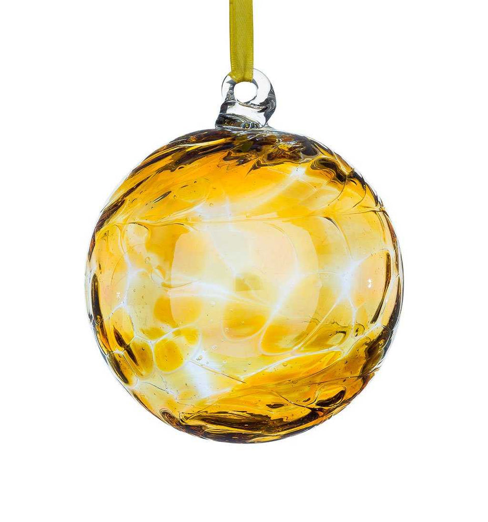 Birthstone ball by Sienna Glass - November/Topaz