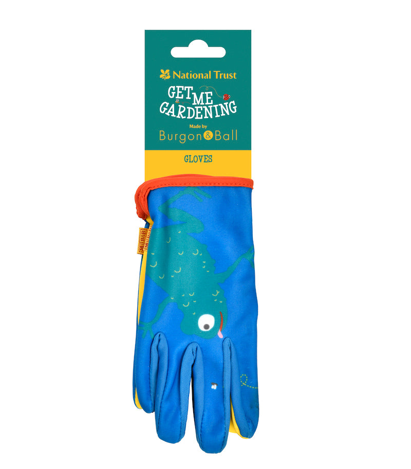 Children's gardening gloves by Burgon & Ball  with label - Peach Perfect