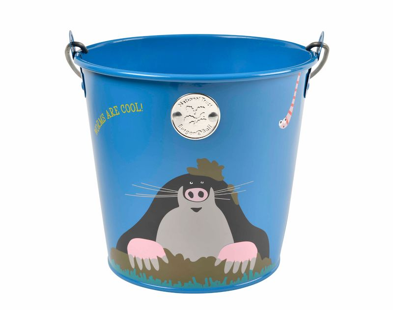 National Trust 'get me gardening' children's bucket  with mole design- Peach Perfect